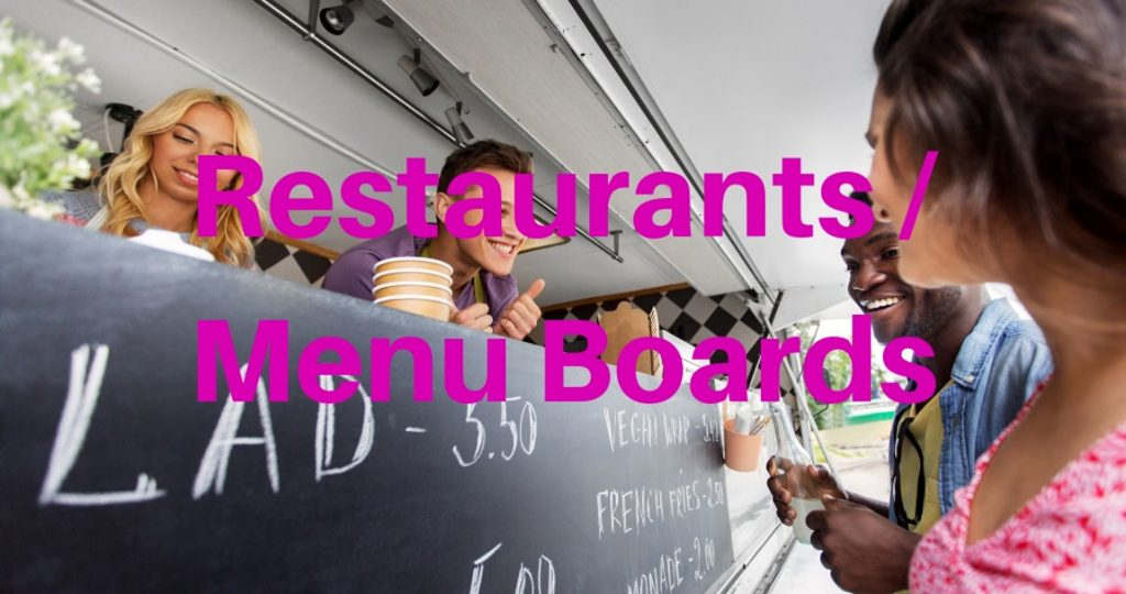 Chalkfilm for restaurants and menu boards